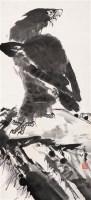 鹰 立轴 水墨纸本 - 1722 - 中国书画专场 - 2008第三季艺术品拍卖会 -收藏网
