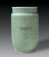 豆青釉暗刻龙纹壮罐 -  - 中国瓷器 杂项 玉器 - 2008秋季拍卖会 -收藏网