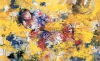 梦莲传说 重彩 纸本 - 19615 - 油画、雕塑、版画暨广东油画、水彩 - 2006冬季拍卖会 -收藏网