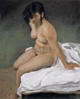 女人体 布面 油画 - 张冬峰 - 中国油画 - 2008年夏季拍卖会 -收藏网