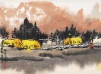 牧歌 镜心 设色纸本 - 徐 希 - 中国书画(二) - 2010秋季艺术品拍卖会 -收藏网