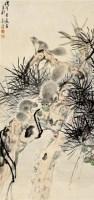 松枝逸趣 立轴 设色纸本 - 140743 - 中国书画 - 2011秋季拍卖会 -收藏网