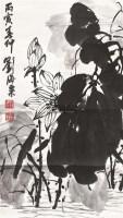 墨荷 立轴 水墨纸本 - 116759 - 中国书画 - 北京康泰首届艺术品拍卖会 -收藏网