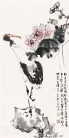 仙鹤 镜片 纸本 - 曹明冉 - 民间收藏书画拍卖会 - 民间收藏书画拍卖会 -收藏网