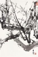 白梅 立轴 水墨纸本 - 128053 - 中国书画(二)—香雪梅魂·于希宁保真专场 - 2011春季艺术品拍卖会 -收藏网