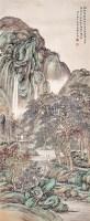 郭兰祥 山水 立轴 - 郭兰祥 - 古代书画 碑帖 印章 - 2007年仲夏拍卖会 -收藏网