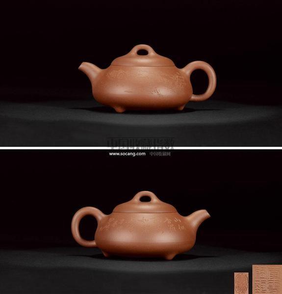 李霓  石瓢(李昌鸿刻绘) -  - 啖墨茹砂—紫砂名家名作 - 2011春季艺术品拍卖会 -收藏网