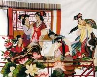 十字绣《红楼群芳图》 -  - 字画 玉器 杂项 - 2011中博香港大型艺术品拍卖会 -中国收藏网