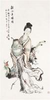仕女 立轴 设色纸本 - 黄义 - 中国书画(二) - 五周年秋季拍卖会 -收藏网