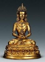 明早期(15世纪) 无量寿佛 -  - 古董珍玩专场 - 2008年迎春艺术品拍卖会 -收藏网