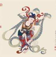 飞天 镜心 设色纸本 - 10416 - 中国书画专场 - 书画保真专场拍卖会 -中国收藏网