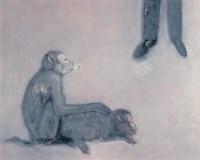 陆笑毅 猴子 布面 油画 -  - 中国当代油画 - 2006首届中国国际艺术品投资与收藏博览会暨专场拍卖会 -收藏网