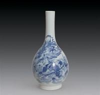 清乾隆 青花油锤瓶 -  - 瓷器古董珍品 - 2006首届慈善拍卖会 -收藏网
