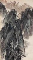 黄山奇峰云起图 立轴 设色纸本 - 131604 - 吴地风韵专场 - 2008首届秋季大型古玩书画拍卖会 -收藏网