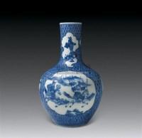 青花开光刀马人物纹天球瓶 -  - 中国瓷器 杂项 玉器 - 2008秋季拍卖会 -收藏网