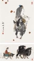 秋吟 (二帧) 镜心 设色纸本 - 马西光 - 中国当代书画 - 2006冬季拍卖会 -收藏网
