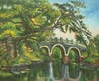 风景 镜框布面 - 颜文梁 - 中国书画 - 2008秋季艺术品拍卖会 -收藏网