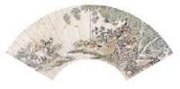 陈崇光 花鸟扇面 镜心 - 陈崇光 - 中国书画(二) - 2007秋季拍卖会 -收藏网
