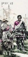 人物 镜心 设色纸本 - 苗再新 - 中国书画 - 2008第二季艺术品拍卖会 -收藏网
