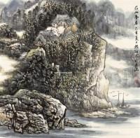巴山春居 镜框 - 4422 - 中国书画 - 2011年春季艺术品拍卖会 -收藏网