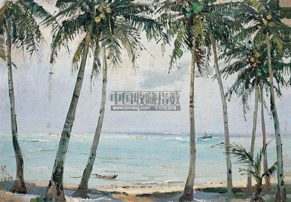 海风 布面 油画 - 132410 - 中国油画 雕塑影像 - 2006广州冬季拍卖会 -收藏网
