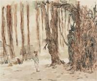 树林小屋 镜心 设色纸本 - 4320 - 纪念罗铭诞辰一百周年 - 2012迎春拍卖会 -收藏网