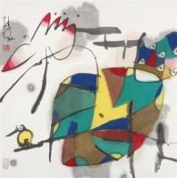 无题 镜片 设色纸本 - 114810 - 中国书画 - 2012年迎春艺术品拍卖会 -收藏网