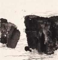 许江 山水清音之四 纸本水墨 - 140775 - 中国油画 - 2006秋季艺术品拍卖会 -收藏网