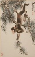 周北溪(1913—2002)松猴图 - 13390 - 雅纸藏中国现当代书画 - 2007首届秋季艺术品拍卖会 -收藏网