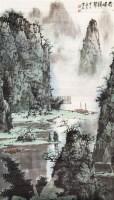 奇峰耸翠 镜心 - 白雪石 - 中国书画 - 2011年春季艺术品拍卖会 -收藏网