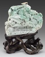 透雕翡翠连年有余摆件 -  - 古董珍玩 - 2011春季艺术品拍卖会 -收藏网