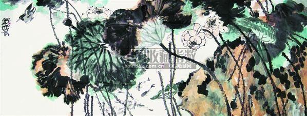 韩伟华 荷花 镜心 - 116895 - 中国书画 - 第二届中国书画拍卖会 -收藏网