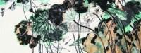 韩伟华 荷花 镜心 - 韩伟华 - 中国书画 - 第二届中国书画拍卖会 -收藏网