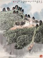 山水 立轴 设色纸本 - 竹樵 - 中国书画 油画 - 2007迎春艺术品拍卖会 -收藏网