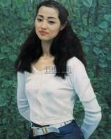刘蓓像 布面  油画 - 胡建成 - 中国油画、雕塑 - 2006仲夏精品拍卖会 -收藏网