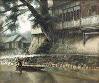 湘西小景 布面油画 - 155254 - 油画专场 - 2011首届秋季艺术品拍卖会 -收藏网