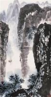 """山水 立轴 设色纸本 - 刘宝纯 - """"翰墨缘""""名家留珍 - 2006广州冬季拍卖会 -收藏网"""