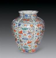 明 五彩瓜楞大罐 -  - 瓷杂专场 - 2006年秋季艺术品拍卖会 -收藏网