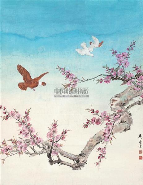 万世和平图 立轴 设色纸本 - 116774 - 中国书画专场 - 首届艺术品拍卖会 -收藏网