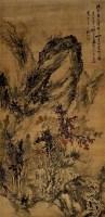 枫林问道 立轴 设色绢本 -  - 中国书画 - 2011秋季拍卖会 -收藏网