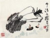 世事清白图 镜片 设色纸本 - 李苦禅 - 中国书画艺术品专场 - 2011年秋季艺术品拍卖会 -收藏网