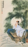 观世音 立轴 设色纸本 - 糜耕云 - 中国书画(二) - 2006秋季大型艺术品拍卖会 -收藏网