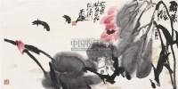 雨后 横幅 设色纸本 - 115107 - 中国书画(二) - 2006年秋季拍卖会 -收藏网