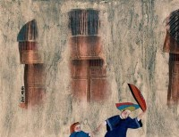 李强  春雨 镜心 - 李强 - 当代中国书画(二) - 2006畅月(55期)拍卖会 -收藏网