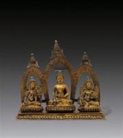 释迦牟尼佛与二度母像 -  - 妙法修心(一)——佛像专场 - 2011年秋季艺术品拍卖会 -收藏网