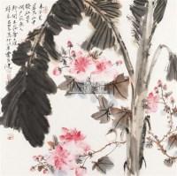 木本芙蓉花 镜框 设色纸本 - 贾广健 - 中国书画(一) - 2011春季中国书画拍卖会 -收藏网