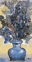 蓝与黄NO.1 综合材料 - 韩伟华 - 油画 - 2009春季大型艺术品拍卖会 -收藏网