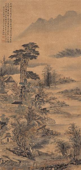山水 立轴 设色纸本 - 116172 - 中国书画 - 2009春季拍卖会 -收藏网