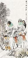 春回郎木寺 镜片 设色纸本 - 6255 - 中国书画一 - 2011秋季书画专场拍卖会 -收藏网