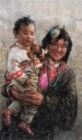 藏族风情 镜心 设色纸本 - 南海岩 - 中国书画 - 2006广州冬季拍卖会 -收藏网